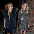 Paris and Nicky Hilton at TAO Beauty & Essex in Hollywood