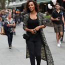 Rochelle Humes – Leaves Global Radio in London - 454 x 603