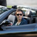 """Adrian Grenier Looks Every Part The Hollywood Star As He Films Scene For His Hit TV Show """"Entourage"""" While Driving A Ferrari Around Beverly Hills"""