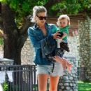 Ali Larter: at a park in Beverly Hills