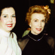 ANN MILLER  accompanies her friend Joan Leslie into our LONDON CHARITY DINNER EVENT DECEMBER 1999
