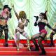 Pink, Lil Kim, Mya and Christina Aguillera At The 2001 MTV Movie Awards
